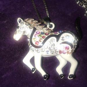 Gorgeous Betsy Johnson Pony Necklace